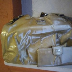 Authentic Patent Leather Coach purse and wallet